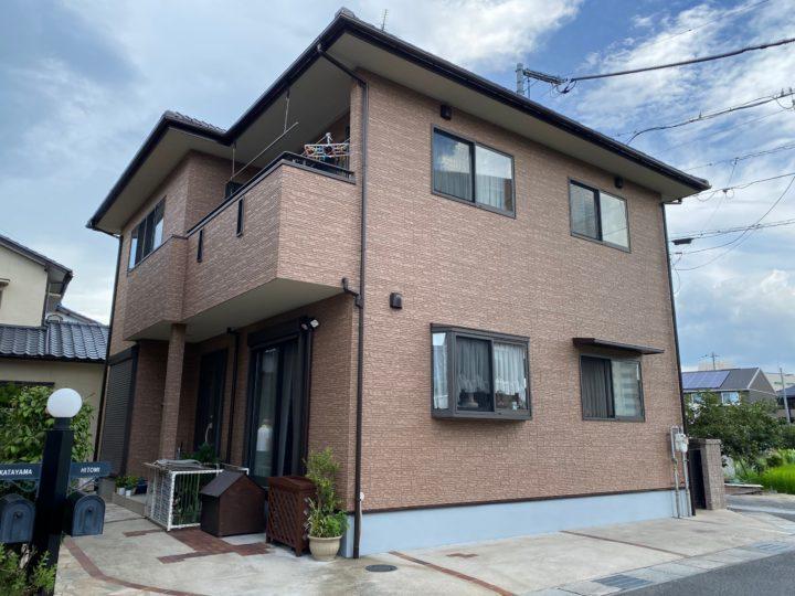 倉敷市 H様邸 外壁塗装WB多彩仕上工法 シーリング工事
